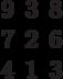 \begin{matrix}9&3&8\\7&2&6\\4&1&3\end{matrix}