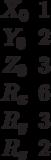 \begin{matrix}X_0 &1\\Y_0&2\\Z_0 &3\\R_x &6\\R_y &3\\R_z &2\end{matrix}