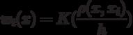 w_i(x) = K(\frac{\rho(x,x_i)}{h})