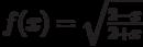 $f(x)=\sqrt \frac {2-x}{2+x}$