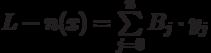 L-n(x)=\sum \limits_{j=0}^{n}B_j \cdot y_j