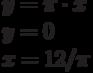 y=\pi \cdot x\\y=0\\x=12/\pi