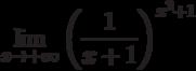 $\lim\limits_{x\rightarrow +\infty}\left(\dfrac{1}{x+1}\right)^{x^{2}+1}$
