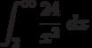 \int^{\infty}_{2} \frac {24}{x^2}\ dx
