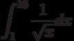 \int^{16}_{1}\frac{1}{\sqrt x}dx