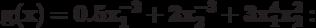 \bf{g(x) = 0.5 x_{1}^{-2}+2 x_{2}^{-3} +3 x_{1}^{4}x_{2}^{2}:}