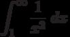 \int^{\infty}_{1} \frac {1}{x^2}\ dx