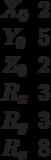 \begin{matrix}X_0&2\\Y_0&5\\Z_0&2\\R_x&3\\R_y&3\\R_z&8\end{matrix}