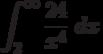 \int^{\infty}_{2} \frac {24}{x^4}\ dx