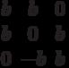 $$\begin{matrix}b&b&0\\b&0&b\\0&-b&b\end{matrix}$$