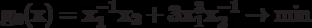\bf{g_{0}(x) = x_{1}^{-1}x_{2}+ 3 x_{1}^{3}x_{2}^{-1} \rightarrow \min}