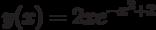 y(x)=2xe^{-x^2+2}