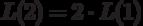 $L(2)=2\cdot L(1)$