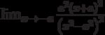 \lim_{x\to -a}\frac{a^2\left(x+a\right)^2}{\left(x^2-a^2\right)^2}