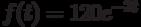 f(t)=120e^{-2t}