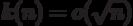 k(n)=o(\sqrt n)