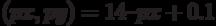(px, py) = 14 – px + 0.1