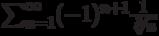 \sum_{n=1}^\infty (-1)^{n+1} \frac{1}{\sqrt[3]{n}}