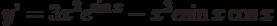 y'=3x^2e^{\sin x}-x^3e{\sin x}\cos x