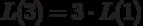 $L(3)=3\cdot L(1)$