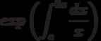 exp \left(\int^{2e}_{e}\frac{dx}{x}\right)