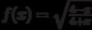 $f(x)=\sqrt \frac {4-x}{4+x}$