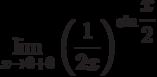 $\lim\limits_{x\rightarrow 0+0}\left(\dfrac{1}{2x}\right)^{\sin \dfrac{x}{2}}$