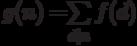 g(n)=$\sum\limits_{d|n} {f(d)}$