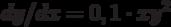 dy/dx=0,1\cdot xy^2