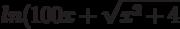 ln(100x+\sqrt{x^2+4}