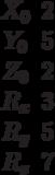 \begin{matrix}X_0&2\\Y_0&5\\Z_0&2\\R_x&3\\R_y&5\\R_z&7\end{matrix}