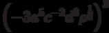 \left( { - 3a^5 c^{ - 2} d^0 \rho ^{\frac{1}{3}} } \right)^3