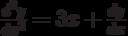 \frac{d^2y}{dx^2}=3x+\frac{dy}{dx}
