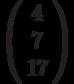 \left(\begin{array}{c}4\\7\\17\end{array}\right)