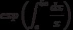 exp \left(\int^{5e}_{e}\frac{dx}{x}\right)