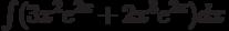 \int(3x^2e^{2x}+2x^3e^{2x})dx