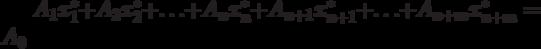 A_1x^*_1 + A_2x^*_2 +\ldots + A_n x^*_n + A_{n+1} x^*_{n+1} +\ldots + A_{n+m}x^*_{n+m} = A_0