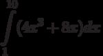 \int\limits^{10}_{1}(4x^3+8x)dx