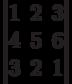 \begin{vmatrix}1 & 2 & 3 \\ 4 & 5 & 6 \\ 3 & 2 & 1 \end{vmatrix}