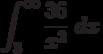 \int^{\infty}_{3} \frac {36}{x^2}\ dx