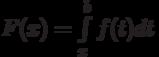 F(x)=\int\limits_x^b f(t)dt