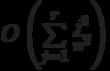 O\left(\sum\limits_{j=1}^r \frac{j^2}{n^2}\right)