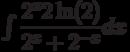\int \dfrac{2^x2\ln(2)}{2^{x}+2^{-x}}  dx