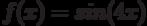 f(x)=sin (4x)