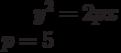 y^2=2px\\p=5