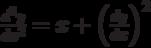 \frac{d^2y}{dx^2}=x+\left(\frac{dy}{dx}\right)^2