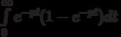 \int\limits_0^\infty {e^{-pt}(1-e^{-pt})dt}