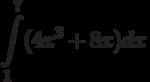 \int\limits^{7}_{1}(4x^3+8x)dx