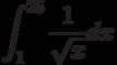 \int^{25}_{1}\frac{1}{\sqrt x}dx