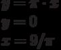y=\pi \cdot x\\y=0\\x=9/\pi